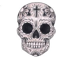Day of The Dead Skull Coloring Pages - Bestofcoloring.com