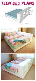 white teen furniture. Ana White | Teen Platform Bed With Storage Side - DIY Projects Furniture E