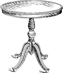 table clipart black and white. parlor table clipart black and white