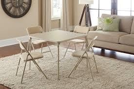 Amazon.com: Cosco 5-Piece Folding Table and Chair Set, Tan ...