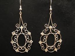 filigree chandelier earrings custom made filigree chandelier earrings