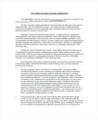 Printable Non Disclosure Agreement Template Sample Letter Of Cover ...