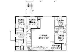 garage plans with office. garage plan 20183 first floor plans with office