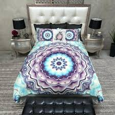 blue and green tie dye comforter purple bedding single blanket bohemian target twin