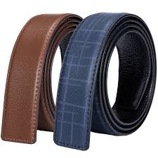 2 color cowhide genuine leather belt without buckle h pin buckle leather belt no buckle