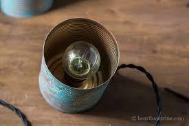 diy beautiful tin can pendant lights