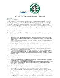 assistant manager job description resume resume badak starbucks manager resume sample