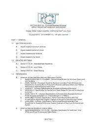 Section 08 57 00 Hurricane Resistant Windows Impact