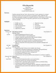 Qa Manual Tester Resume Better Software Testing Resume Format