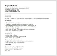Pr Resume Objective 3 This Public Relations Resume Example Includes Few But  Only Relevant