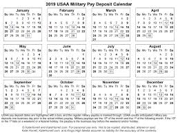 Military Pay Chart 2016 Pdf 2019 And 2020 Usaa Military Pay Deposit Dates With