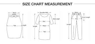 Planet Clothing Size Chart