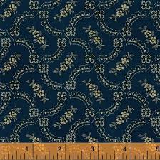 First Ladies - Nancy Gere - Windham Fabrics 36231 1 Navy Paisley ... & First Ladies - Nancy Gere - Windham Fabrics 36231 1 Navy Paisley Flora 100%  Cotton Adamdwight.com