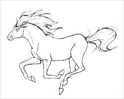 Free Coloring Pages Of Horses Simple Horse Coloring Pages Horse