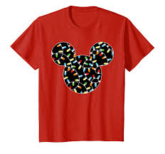 Mickey Christmas Lights Disney Mickey Christmas Lights T Shirt