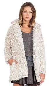blazer boucle faux fur coat