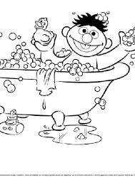 Sesamstraat Ernie In Bad Kleurplaten Diy Zappelin