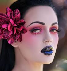 sailor jerry tattoo makeup i just love the pink eye shadow very gothic cross