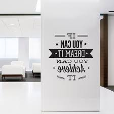 inspirational wall art for office. Inspirational Wall Art For Office In Preferred Decal Quotes \u2013 Typographic Sticker Dream