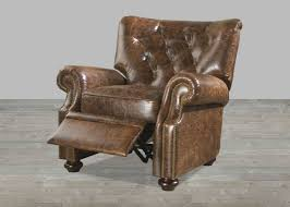 distressed leather recliner design