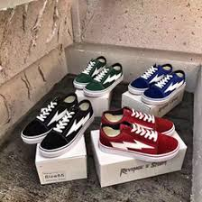vans with lightning bolt. wholesale revenge x storm low top casual sneaker lightning bolt black red blue green ian connor\u0027s shoes 2017 free ship vans with r