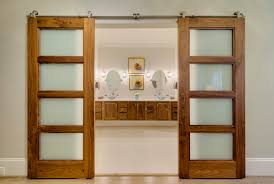 glass barn doors interior. Affordable Double Barn Doors Design. Great Door Interior Design With Glass