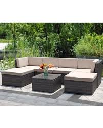 Patio furniture Pallet Piece Outdoor Wicker Sofawisteria Lane Patio Furniture Set Garden Rattan Sofa Cushioned Seat Rc Willey Amazing Winter Deals On Piece Outdoor Wicker Sofawisteria Lane