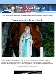 catholic gift ltd free prayer requests to our lady of lourdes milled