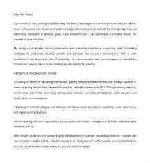 Marketing Manager Resume Cover Letter Sample Digital Assistant