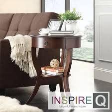 Burkhardt Tripod Round Wood Accent Table by iNSPIRE Q Bold by iNSPIRE Q