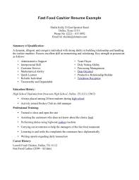 Resume Examples For Cashiers Best Of Resume For Fastfood Fast Food