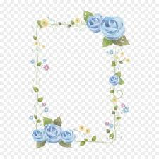 Paper With Flower Border Png Borders And Frames Paper Flower Clip Art Vector Bl