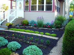 Free Garden Ideas  Unique Images Of Beautiful No Grass Front Yard Designs  Perfect Front