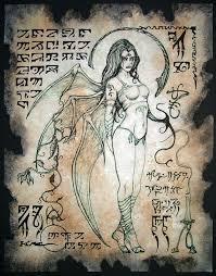lilith succubus necronomicon page occult demon magick dark spirit vire horror 10 00 via etsy