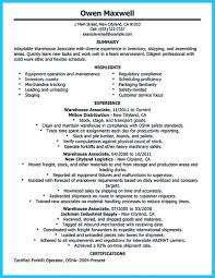 Warehouse Resume Objective Examples Awesome Professional Assembly Line Worker Resume To Make You Stand 57