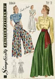 Simplicity Jumpsuit Pattern Beauteous 48s Palazzo Pants Wide Leg Jumpsuit Vintage Sewing Pattern 48
