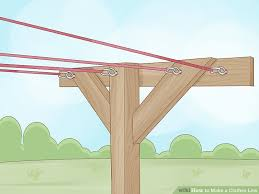 How To Make A Clothesline Simple How To Make A Clothes Line With Pictures WikiHow