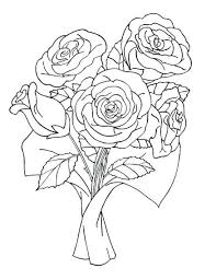 Bouquet Of Flowers Coloring Sheet