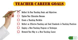What Is A Career Goal Teacher Career Goals Reflect Plan Prepare And Take Action