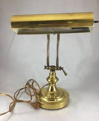 vintage brass table desk lamp adjule shade arm underwriters laboratories 1 of 8only 1 available
