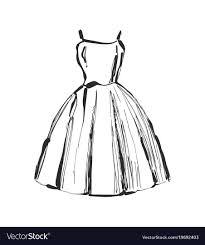 Sketching Clothing Dress Drawing Hand Drawn Clothes Sketch Royalty Free Vector