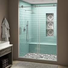 x 80 in frameless sliding shower door