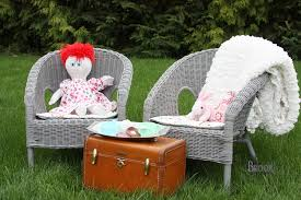 i started by purchasing two agen wicker chairs from ikea i ve been keeping an eye out at thrift s for kid chairs but haven t seen any and i liked the