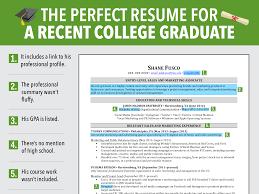 Recent College Graduate Resume 3 Nardellidesign Com