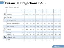 P And L Format Financial Projections P And L Ppt Powerpoint Presentation