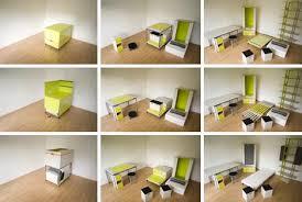 Image Loft Bed Dornob Room In Box Transforming Foldout Furniture Design