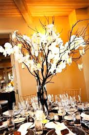 Paper Flower Centerpieces At Wedding Branches Centerpieces Branch Ribbon Paper Flower Centerpiece