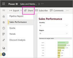 My Report Ways To Share Your Work In Power Bi Power Bi Microsoft Docs