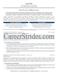 Business Plan Resume Example Lovely Event Planner Resume Sample
