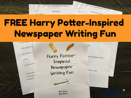 Harry Potter Newspaper Template Free Harry Potter Inspired Newspaper Planner For Writing Fun